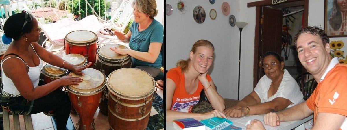 percusion en la Habana y clases de español
